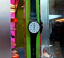 Giant Watch in a Mall Store Window by Jane Neill-Hancock