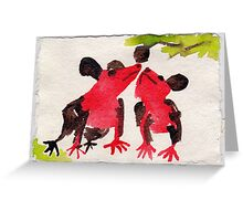 Two Native Mice, 2007 - ink on khadi Greeting Card