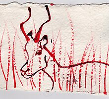 Ibex, 2007 - ink on khadi by phoebetodd