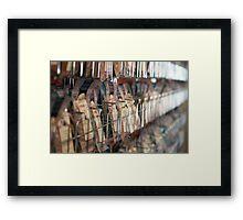 Spice rack Framed Print