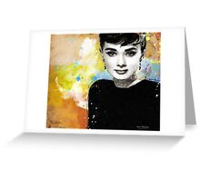 Tribute to Audrey Hepburn Greeting Card