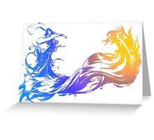 Final Fantasy 10 logo X Greeting Card