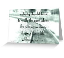 Blurry vision Greeting Card