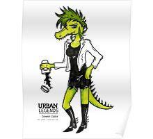 Sewer Gator by Sarah Pinc Poster
