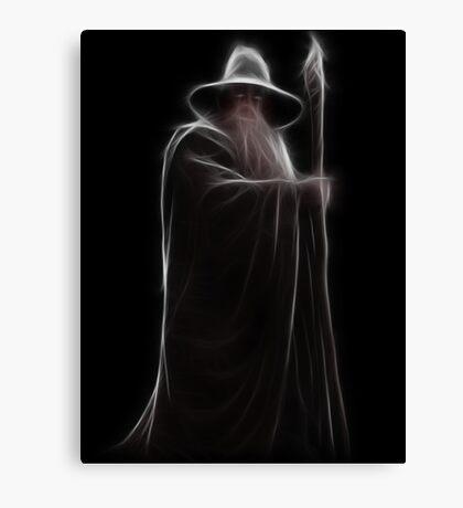 Neon Wizard Canvas Print