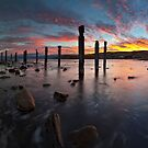 Myponga Beach Sunrise by Bill  Robinson