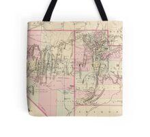 Vintage Map of Nevada and Utah (1880)  Tote Bag