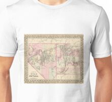 Vintage Map of Nevada and Utah (1880)  Unisex T-Shirt