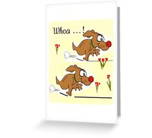 Cartoon Dogs Running Greeting Card Greeting Card