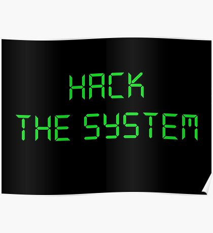 Hacker : Hack the system Poster