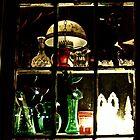Wayside Antique Shop, Colored Glass Window by Jane Neill-Hancock