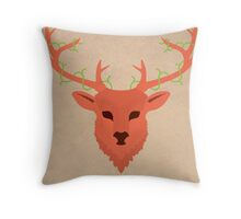 Deer by Wylee Sanderson Throw Pillow