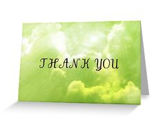 Cool Clouds Thank You Card Greeting Card