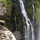 Moss, Rocks and Falling Water. Phantom Falls. by John Sharp