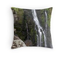 Moss, Rocks and Falling Water. Phantom Falls. Throw Pillow