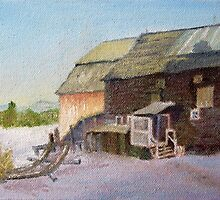 Quebec Farm in Winter by P. Leslie Aldridge