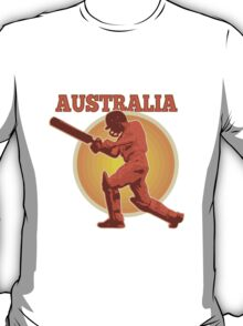 Cricket player batsman batting Australia T-Shirt