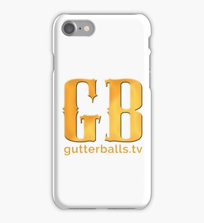 Gutterballs Monogram - Gold iPhone Case/Skin