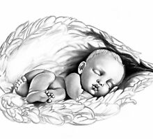 Sleeping baby by Lauren Eldridge-Murray