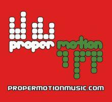 Proper Motion Merch version 33 Jan 2012 w/ text propermotionmusic.com Kids Tee