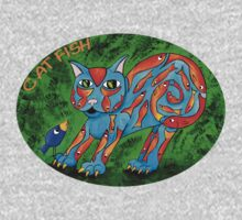 Cat Fish Tee Kids Clothes