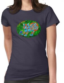 Cat Fish Tee Womens Fitted T-Shirt