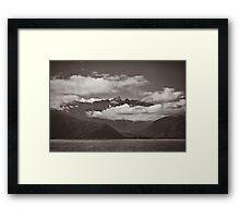 ~ land of the long white cloud ~ Framed Print