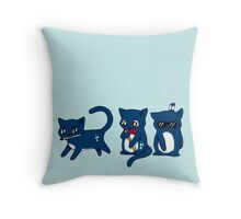 Tardis Cats and Sonic Devices Throw Pillow