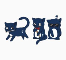 Tardis Cats and Sonic Devices Kids Tee
