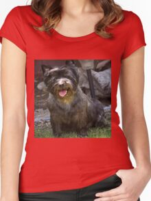 SWEETPEE CAIRN TERRIER AKA TOTO Women's Fitted Scoop T-Shirt
