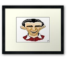 Jimmy Wardhaugh Cartoon Caricature Framed Print