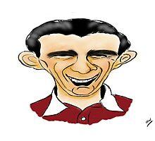 Jimmy Wardhaugh Cartoon Caricature Photographic Print