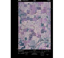 USGS Topo Map Washington State WA Plaza 20110401 TM Inverted Photographic Print