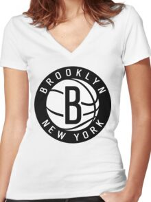 Brooklyn NEW YORK Women's Fitted V-Neck T-Shirt