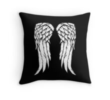 Daryl Dixon Wings - Zombie Throw Pillow