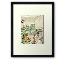 Prisoner's Waiting Room, Bugs Gone Bad Framed Print