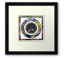Square and Circle Mandala - COLOURED Framed Print