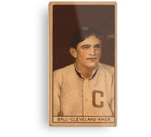 Benjamin K Edwards Collection Neal Ball Cleveland Naps baseball card portrait 002 Metal Print