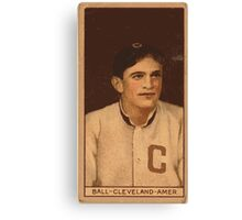 Benjamin K Edwards Collection Neal Ball Cleveland Naps baseball card portrait 002 Canvas Print