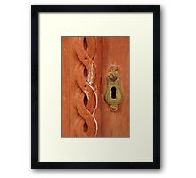 Red door on The Stradun Framed Print