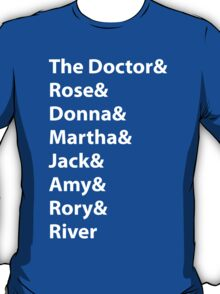 The Doctor and His Many Companions T-Shirt