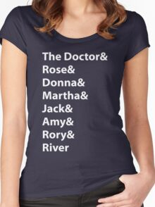The Doctor and His Many Companions Women's Fitted Scoop T-Shirt