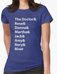 The Doctor and His Many Companions Womens Fitted T-Shirt