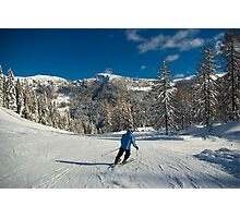 King of the Slopes Photographic Print