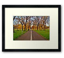 Meadows pathway Edinburgh Framed Print