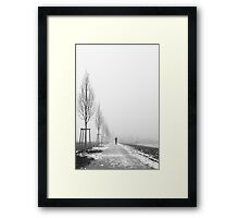 White path Framed Print