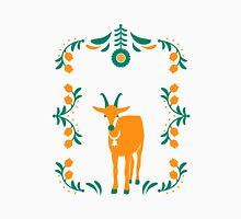 Folk Mountain Goat Womens Fitted T-Shirt