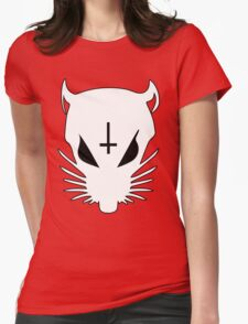 white ZEF Rat Womens Fitted T-Shirt