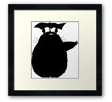 Totoro blacked Framed Print