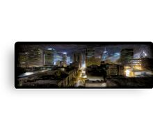 Night Cityscape Oil Painting Canvas Print